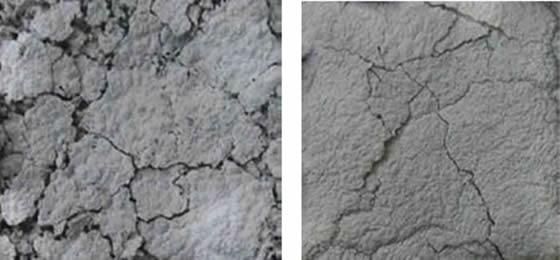 図10 燃焼残差 左:無添加リファレンス 右:GENIOPLAST® PELLET S 2%添加品